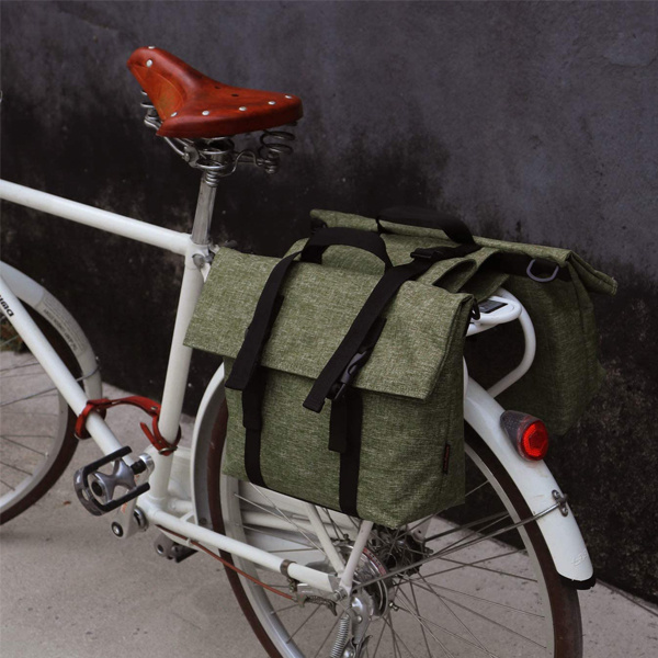 Waterproof Double Pannier Bag Bicycle Rear Rack Trunk Motorcycle Tail Seat Bag