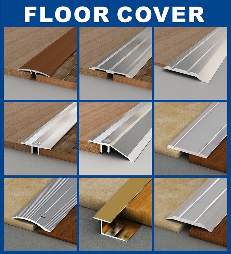 Floor Cover Strip Aluminum Wood Grain, Transition Trim For Laminate Flooring