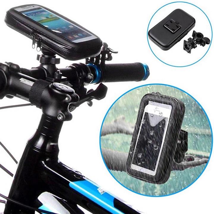 6.3 inch Bicycle Waterproof Front Tube Phone Mount Case Bike Holder Bag