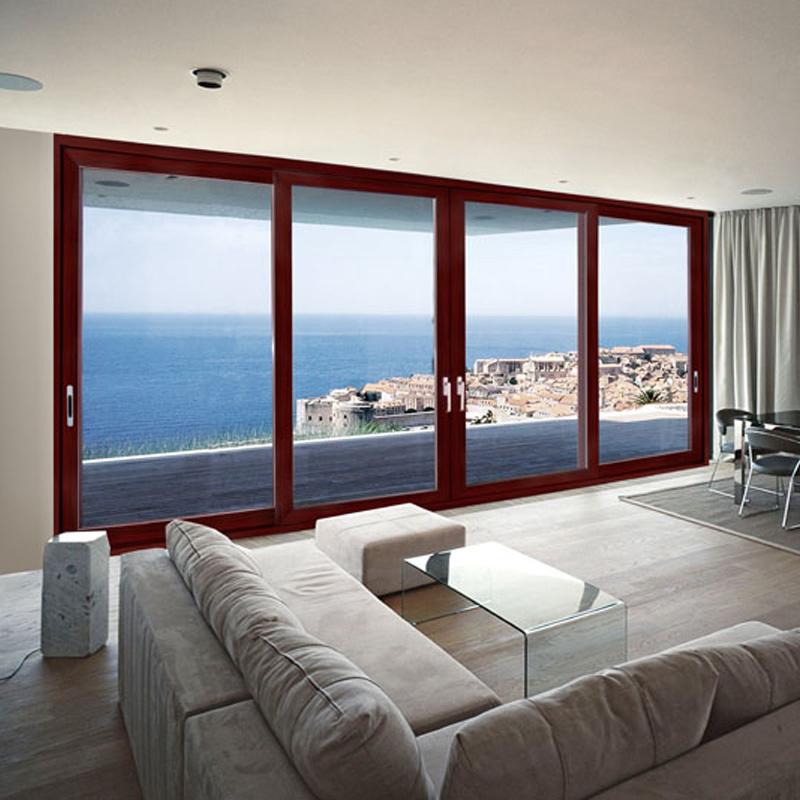 Feelingtop interior o exterior puerta corrediza de vidrio templado ...