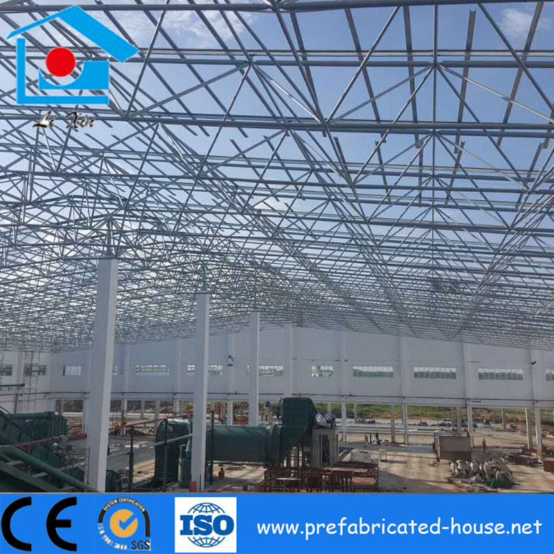 Large Span Light Weight Space Truss Frame Steel Structure for ...