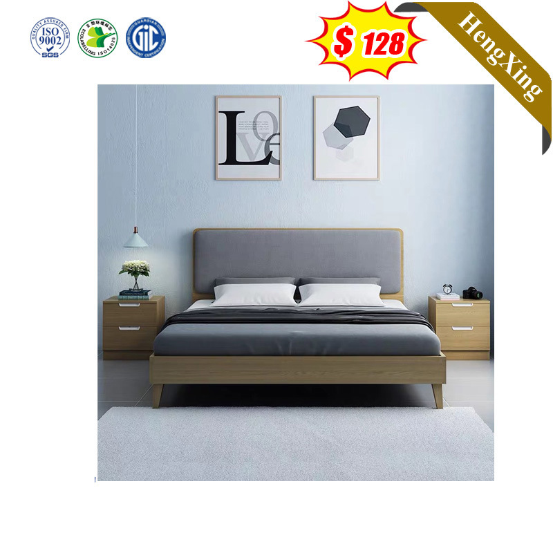 European Modern Style Fabric Solid Wood Home Double King Size Bedroom Set Living Room Furniture Bedroom Bed China Bedroom Furniture Double Bed Made In China Com