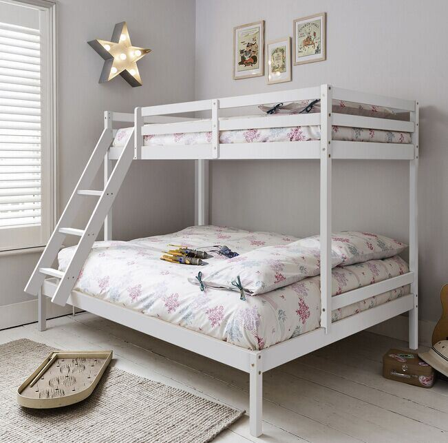Wooden Furniture White Solid Wood Bunk Bed China Furniture Single