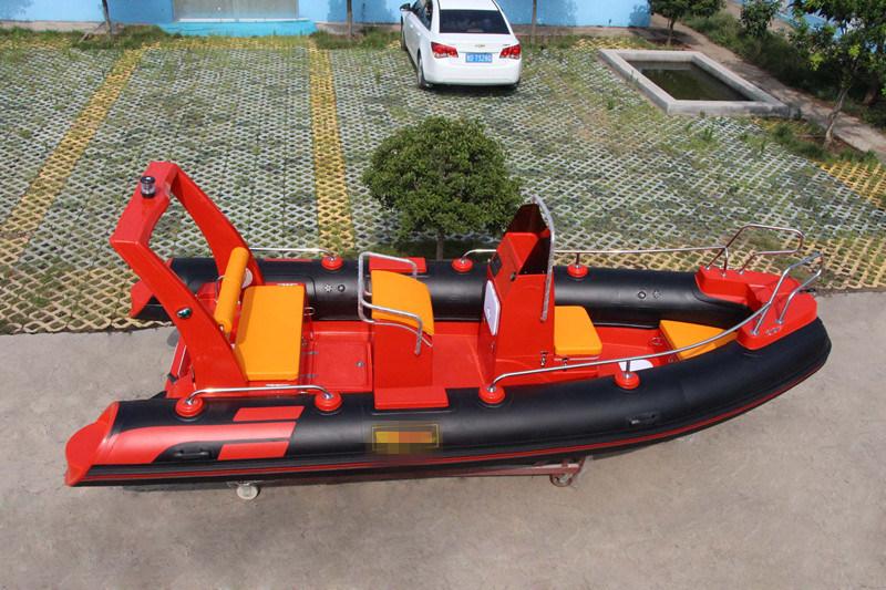 Fiberglass Passenger Boat /Rib Motor Boat/Rigid Inflatable Boat (RIB520)