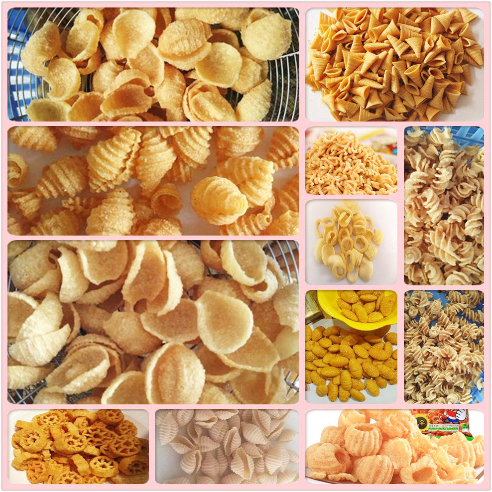 Fried 3D Papad Pellet Snacks Food Making Machine