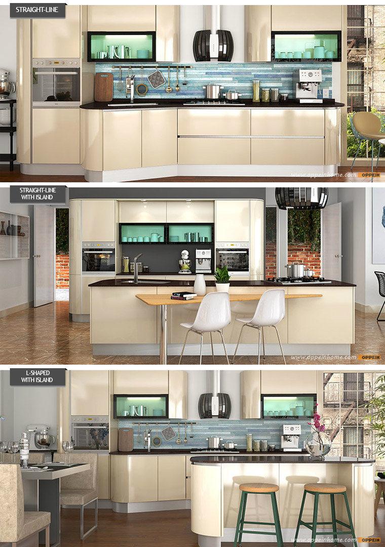 Armadi Da Cucina Di Legno Solido : Armadi da cucina di legno acrilici dorati dell indicatore
