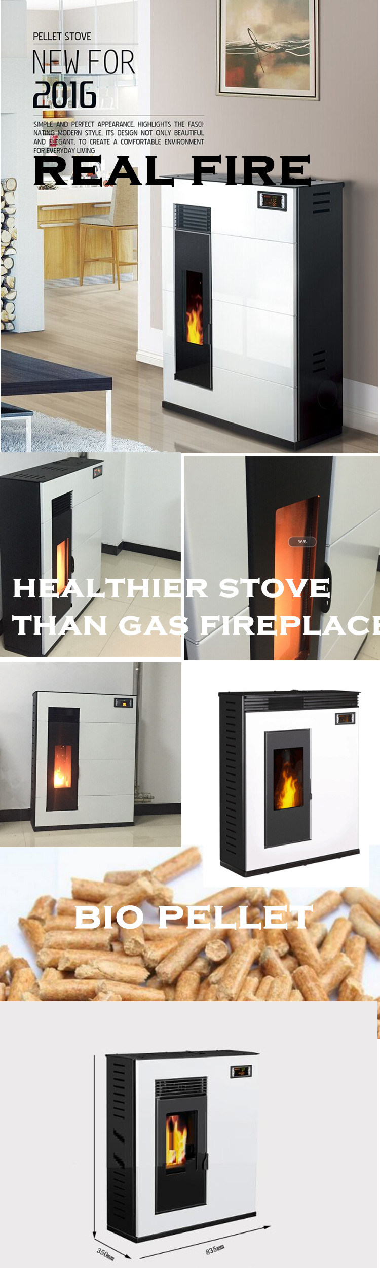 Ecofriendly Indoor and Outdoor Wood Pellet Stove Movable Fireplace ...