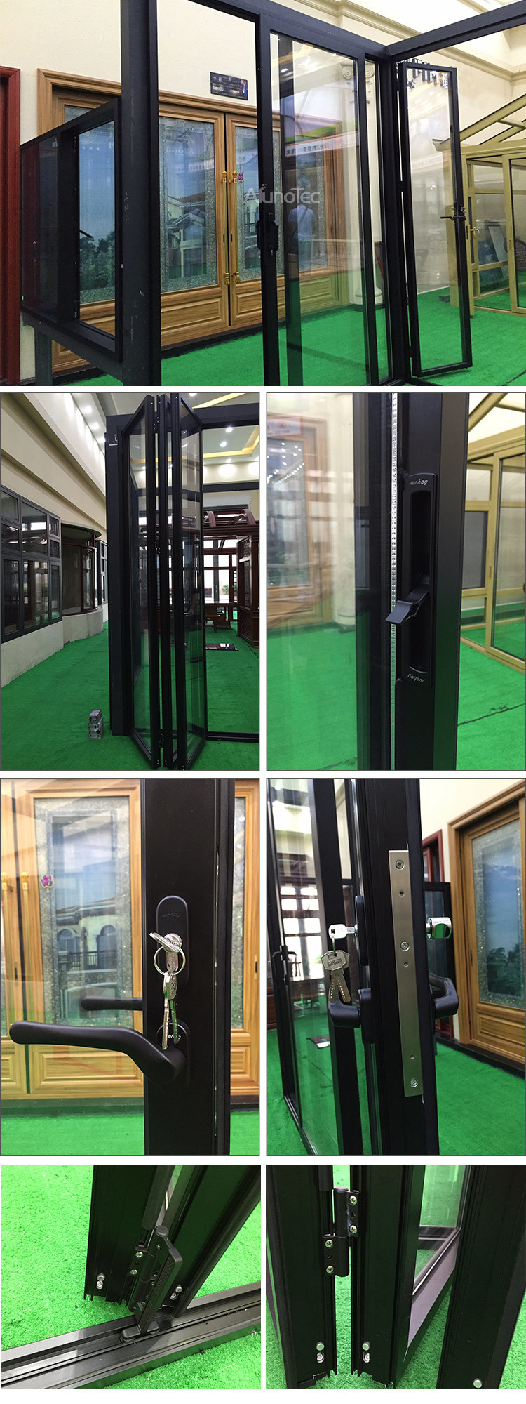 New Design Soundproof Folding Sliding Door for Backyard
