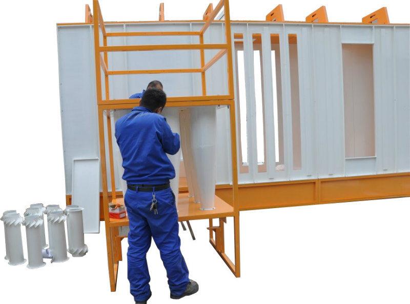 La cabina manuale della polvere con il ciclone ricicla for Manuale per la pulizia della cabina dell aeromobile
