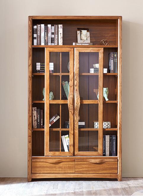 new concept cb568 ddb5f [Hot Item] High Quality Home Furniture Glass Door Wooden Bookshelf