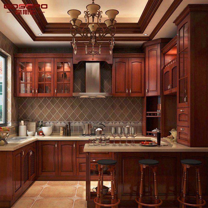 Cabina de cocina de madera sólida moderna de la pintura de los ...