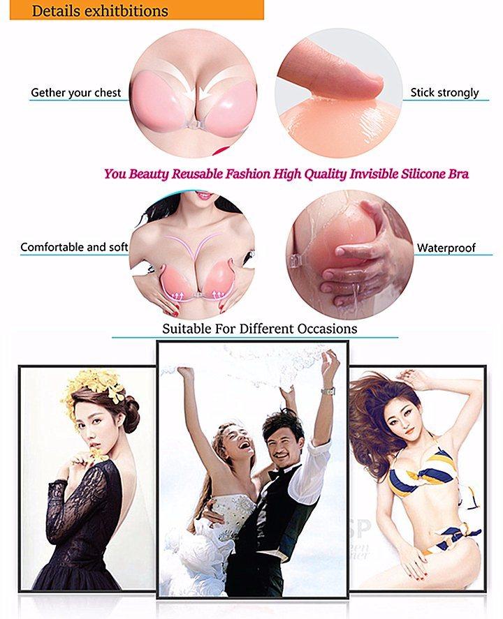 5e6911bc90eec Non-Slip Strapless Backless Seamless Underwear Soft Auto-Adhesive Invisible  Silicone Bra