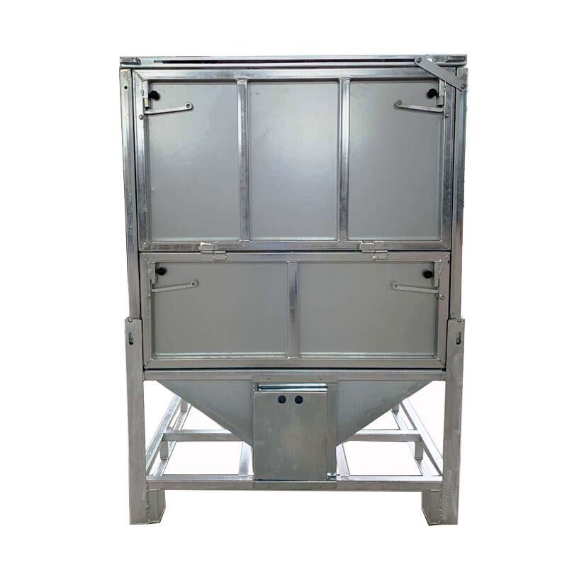Galvanised Steel Slope Base Container, Galvanised Storage Container