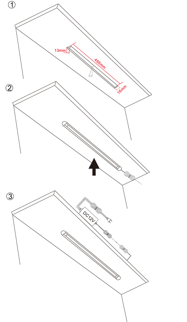 Under Cabinet Light with PIR Sensor Switch (WF-LTQ50020-2450-PIR)