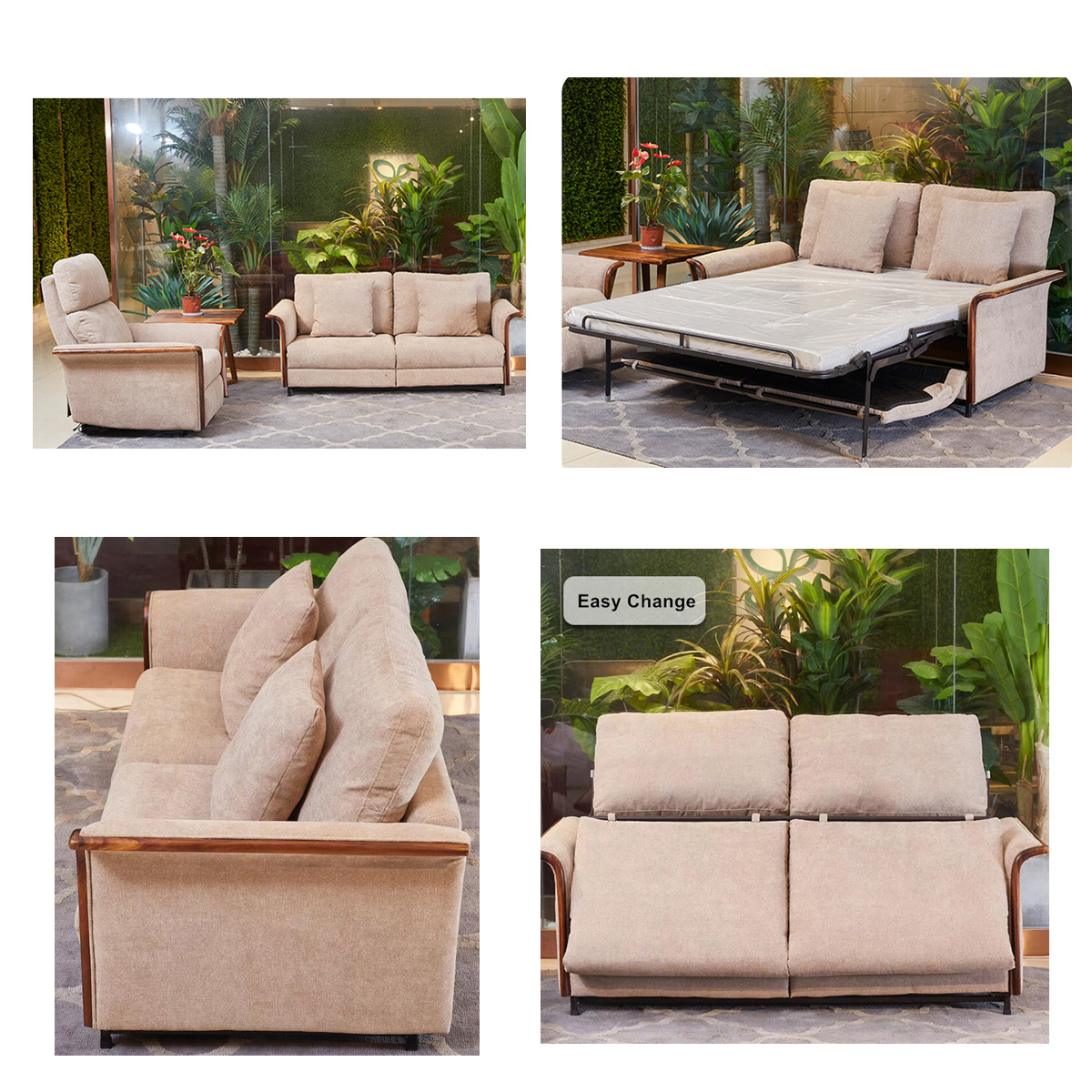 Home Multi-Function Lounge Chair Folding Seat