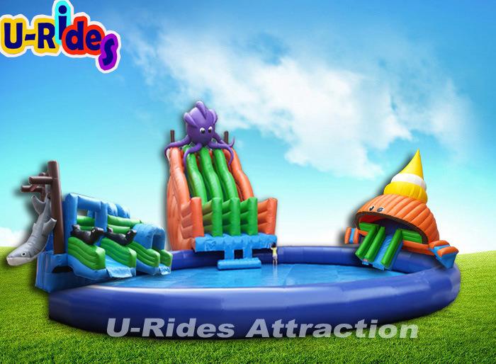 Juegos Inflables Pulpo Gigante Y Tiburon Parque Acuatico Movil