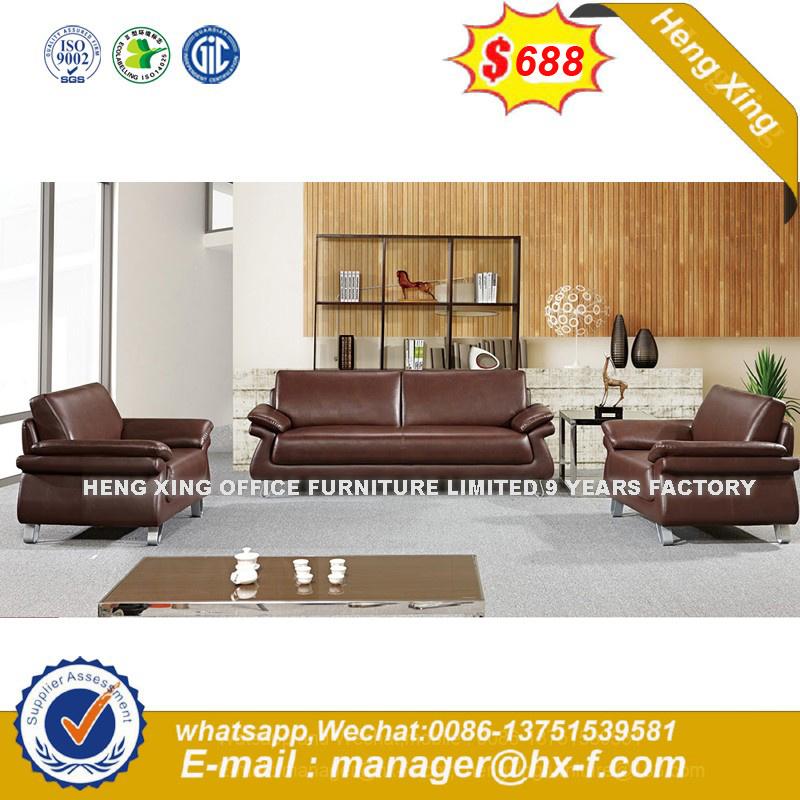 Sofá de cuero de grano superior europeo moderno Muebles de Salón (HX ...