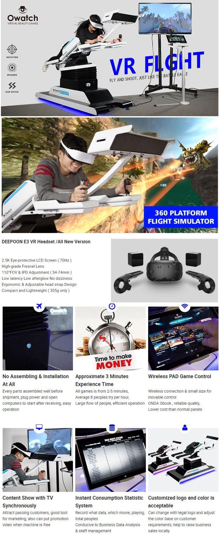 1bf2d6dac41 Vr Experience Amusement Ride Arcade Game Machine Vr Flight Simulator ...