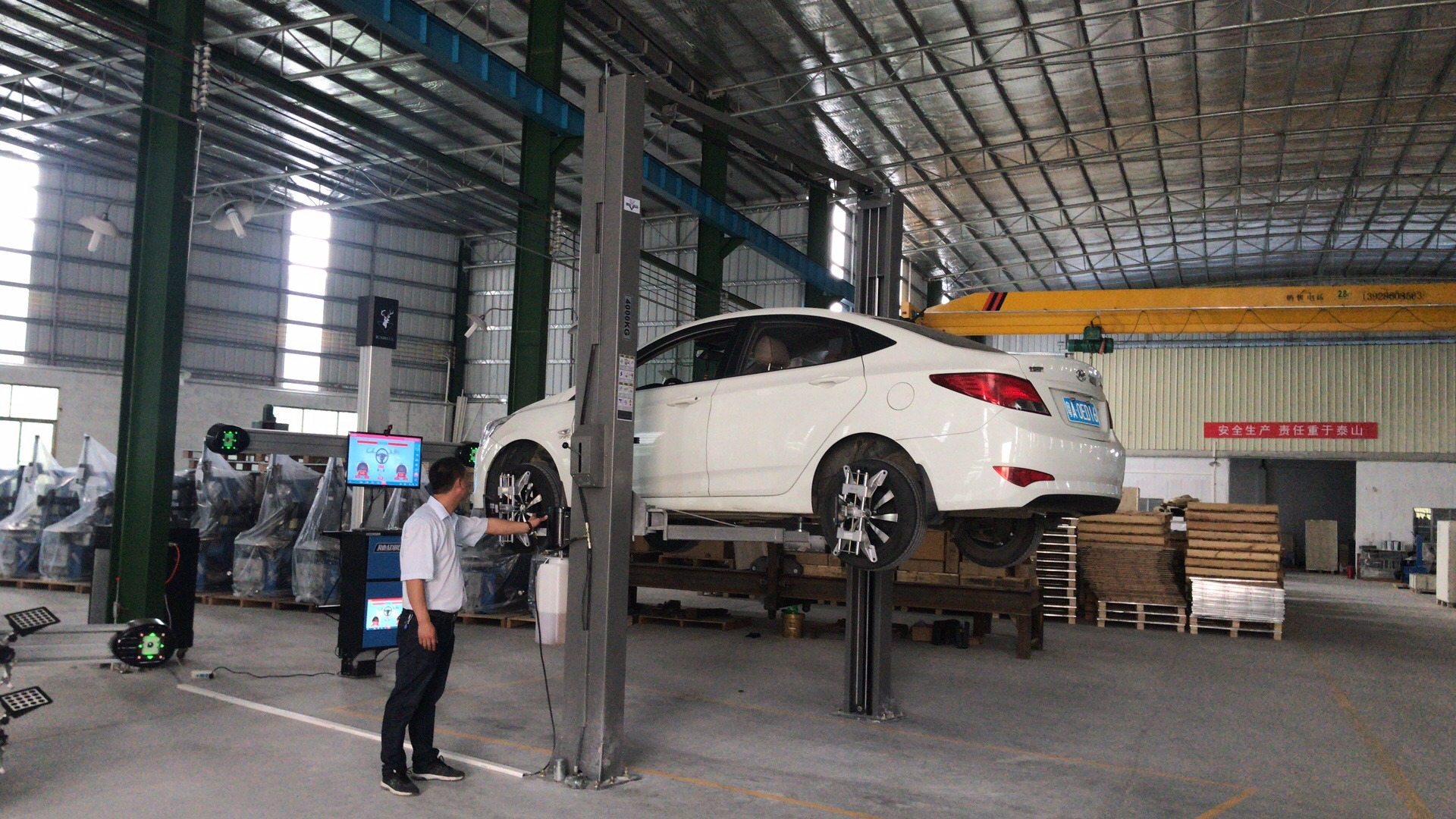 2HD Cameras Auto Lifting 3D Wheel Alignment Machine for Car Workshop