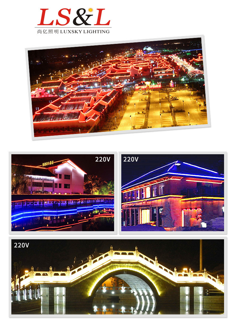 [Hot Item] IP68 Waterproof White LED Neon Strip Light for Holiday Decoration