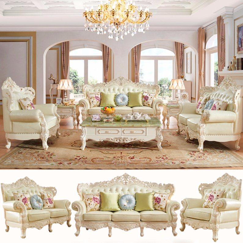 meubles de salle de s jour avec canap en cuir classique. Black Bedroom Furniture Sets. Home Design Ideas
