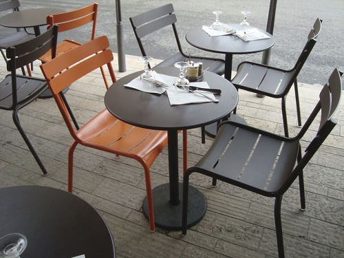 Muebles de exterior de aluminio de Alumium Silla apilable – Muebles ...