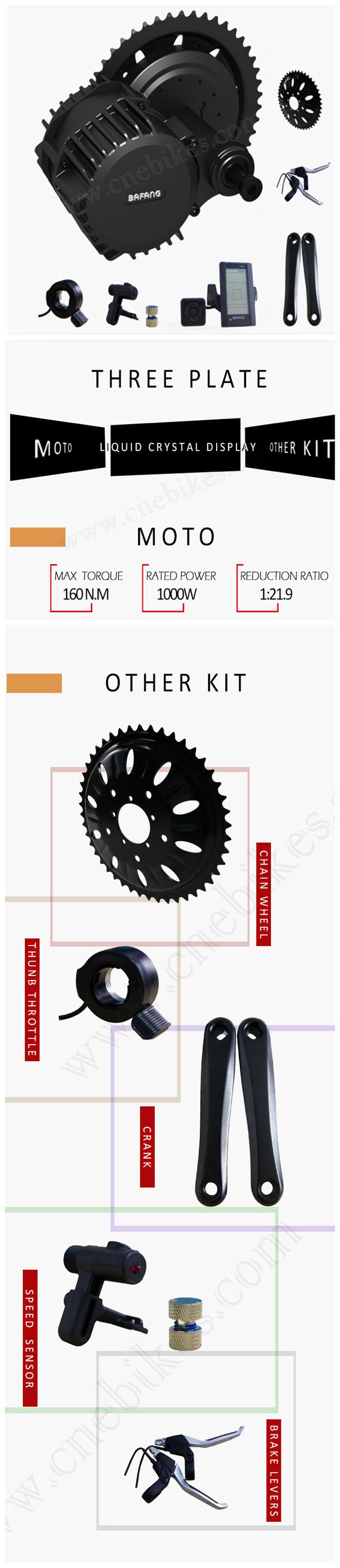 [Hot Item] MID Drive Engine Bafang 48V 1000W Bbshd Ebike Kit
