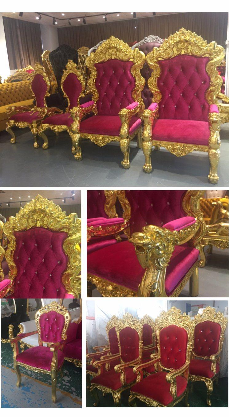 Marco dorado trono sofá para la boda/restaurante/hotel/salón de ...