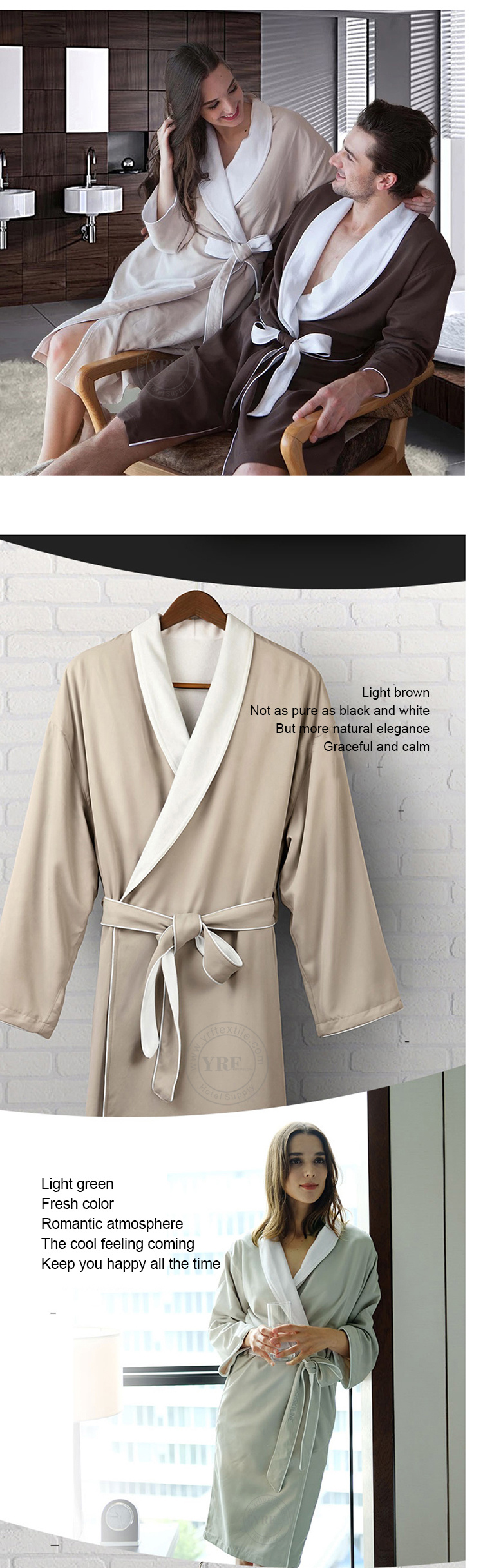 Guangzhou Foshan 100% Cotton White Waffle Velourterry Hotel Bathrobe ... 8a1f50706