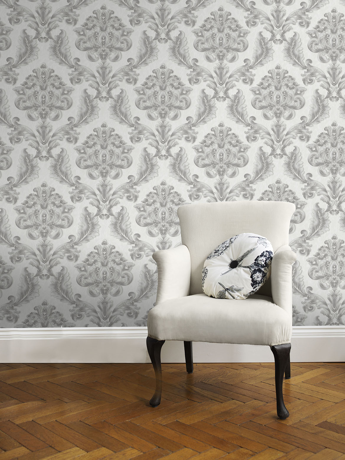 China 1 06m Wholesale Price Pvc Vinyl Damask Wallpaper For Home Decoration