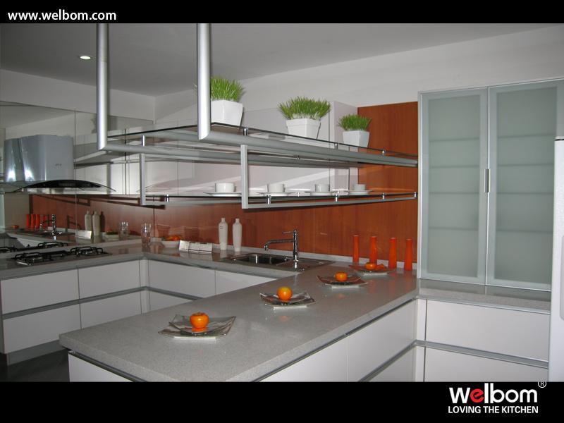 Armario de Cocina de melamina blanco moderno – Armario de Cocina de ...