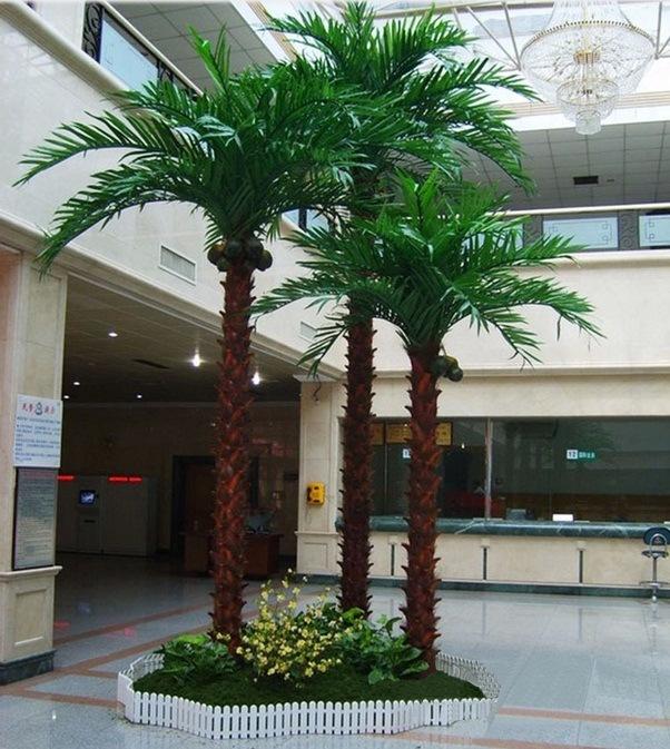 Planta decorativa de la ltima palmera de plata artificial - Planta interior palmera ...
