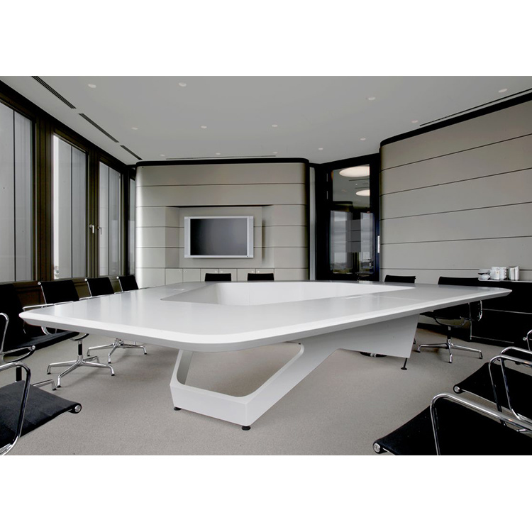 USA Luxury Design White Corian Furniture Office Meeting Boardroom - Corian conference table