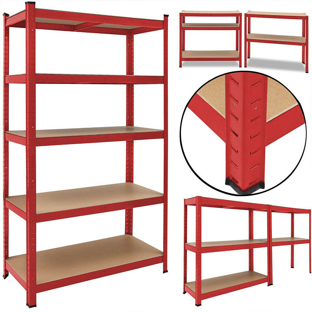 Heavy Duty Metal Garage Shelving Racking Unit Storage Rack Boltless Shelf 180cm
