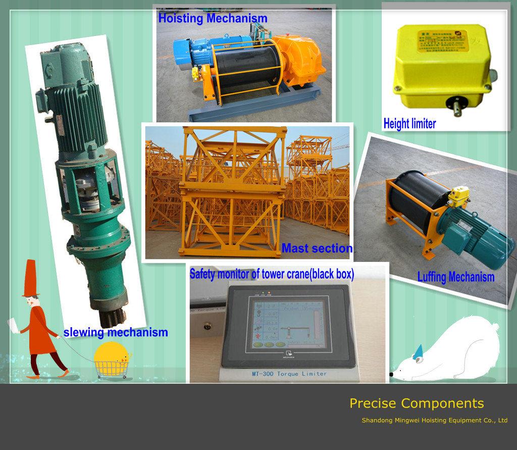 Construction Machine/Building Tower Crane Qtz125 (6018) Max. Load: 8t-Shandong Mingwei Tower Crane