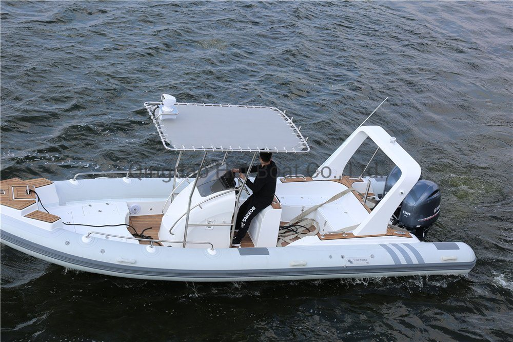 25feet 7.6m Fiberglass Boat Building Center Console Boat Fishing Boat Family Party Boat Speed Boat Passenger Boat Rib Inflatable Boat Rib Boats Fishing Boat