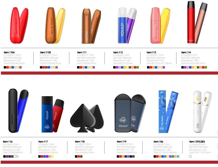 Smooth Throat Hit Vape Products Kingtons Disposable E-Cigarette