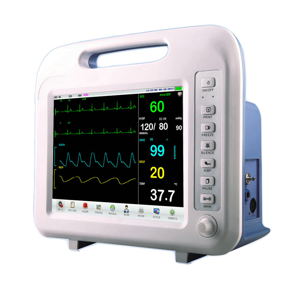 NIBP/IBP/Etco2 Battery Hospital Clinic Use Vital Sign Monitor/Patient Monitor/Medical Hospital Supply Patient Monitor