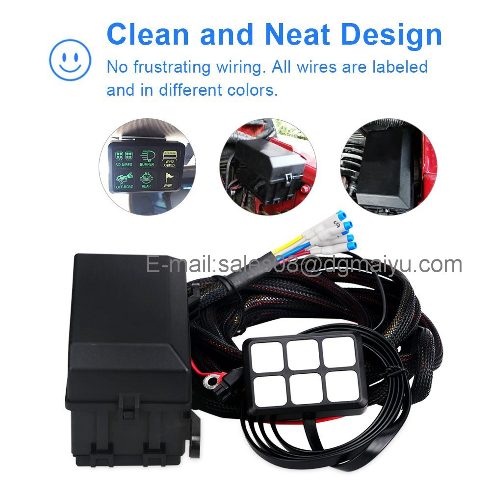 Fantastic Dc 12V Switch Relay Control Panel With Wiring Kit Universal For Car Wiring Digital Resources Remcakbiperorg