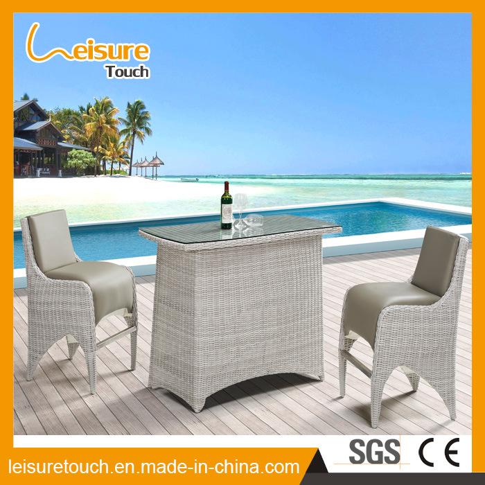 Casa Hotel/cuero Uphostery Rattan sintético Bar mesa y silla Jardín ...