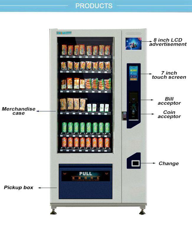 Smart m quina expendedora de bebidas y aperitivos con 7 - Maquinas expendedoras de alimentos y bebidas ...