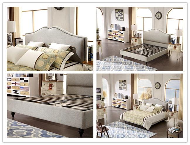 Conjunto de muebles de dormitorio moderno barata tela suave cama ...