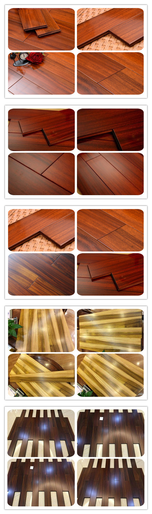 Availlable Color For Solid Iroko Floor