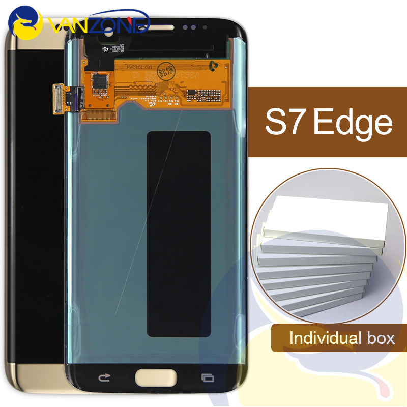 Hot Item 100 Tested For Samsung Galaxy S7 Edge G935 G935f G935a G935fd G935p Lcd Display Touch Screen Digitizer Blue White Gold