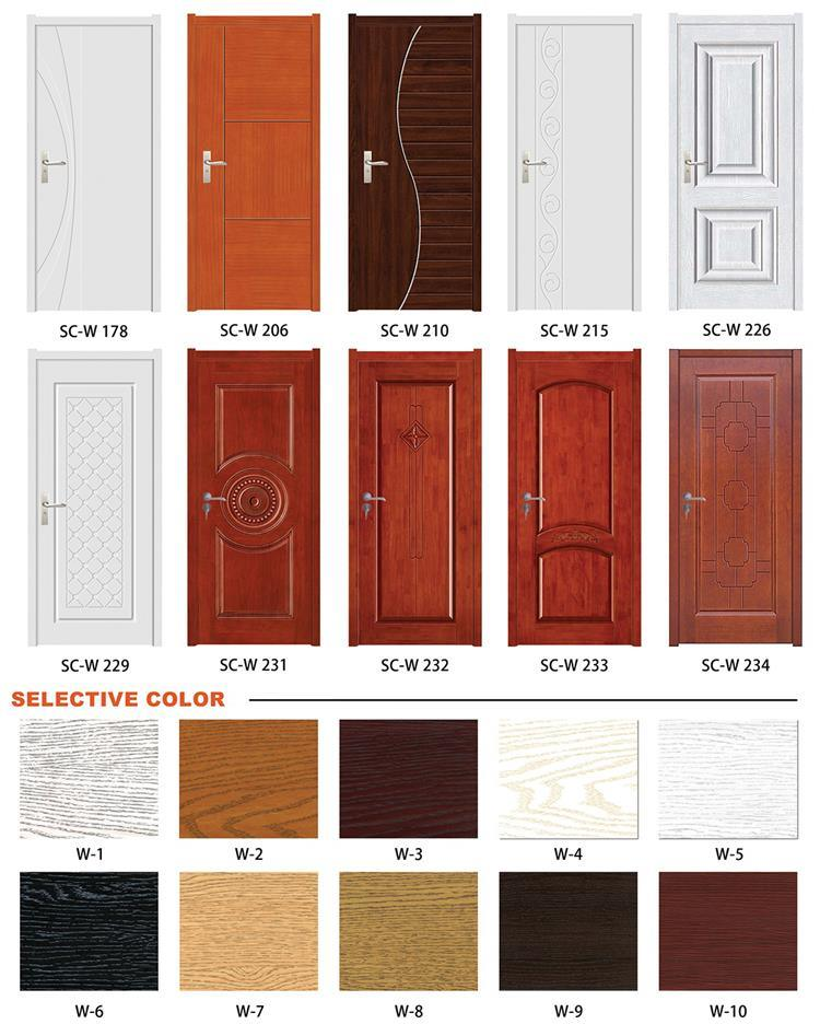 Top Sales Design Single Bedroom Teak Wooden Doors Price Sc W046
