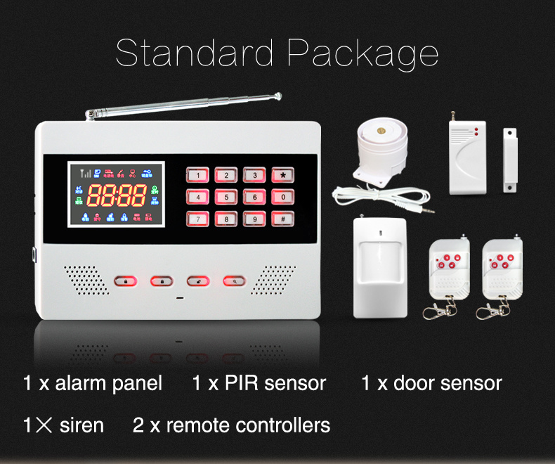 sistema de alarme contra roubo sem fio home inteligente da g m com opera o do app sistema de. Black Bedroom Furniture Sets. Home Design Ideas