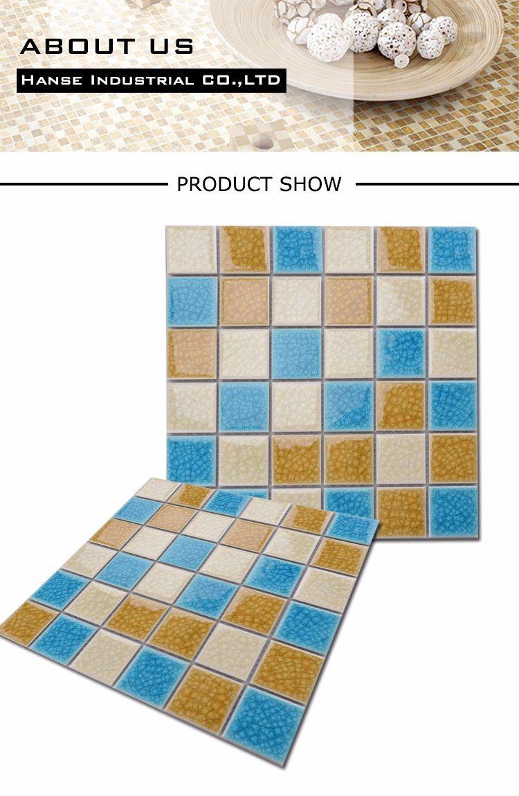 Canada Style Square Anti-Microbial Colour Mixture Mosaic Bathroom ...