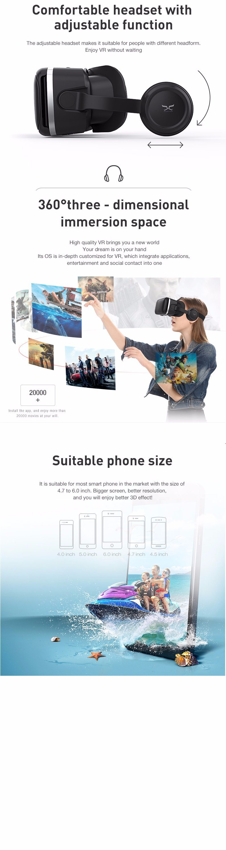 Vr Shinecon3d Vr Headset Virtual Reality Headset Of Vr Shinecon Direct Vr Goggles For 3d Movie Video Game With Adjustable Stereo Headphone Compatible With Ipho China Vr And 3d Vr Headset Virtual Reality