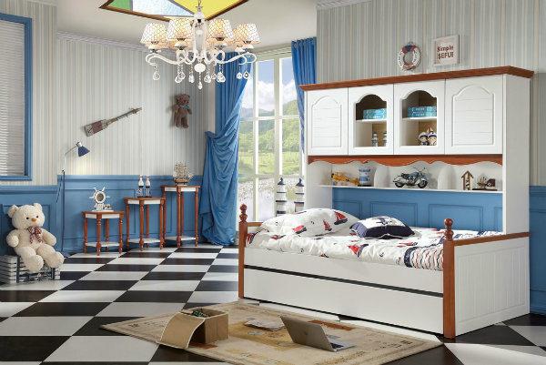 Capretti Furniture Single Bed con la camera da letto Wardrobe ...
