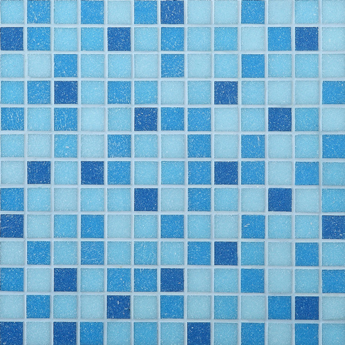 Smart Expo Building Material Mosaic Tiles Blue Glass
